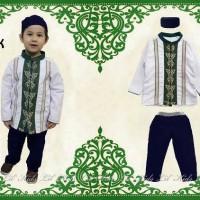 Baju Koko Anak Lil Kids Putih Panjang Free Topi