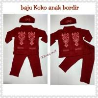 baju koko anak bordir/stelan koko anak bordir/baju muslim anak