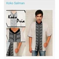 Baju Koko Salman Putih Lengan panjang