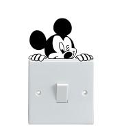 Jual Stiker Dekorasi Saklar Lampu Motif Mickey Mouse Disney Wall Sticker Murah
