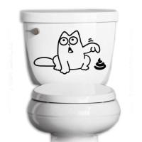Stiker Sticker Toilet Lucu Anak Anjing Tunjuk Decal Dekorasi Closet