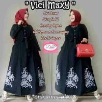 vici maxy / gamis jeans asli cantik
