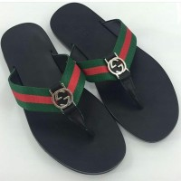 JUAL SANDALS GUCCI BLACK STRIP MERAH HIJAU MIRROR QUALITY