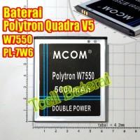 Baterai Polytron Quadra V5 W7550 , PL-7W6