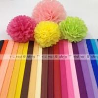 Jual Dekorasi Pesta Tissue Paper Pom Poms Flower Ballls 10cm Murah