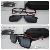 Jual kacamata clip on magnet hitam merah Murah