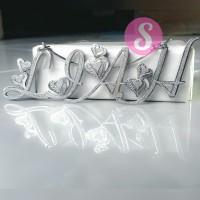 Kalung Nama Silver Grafir BIG - Lia