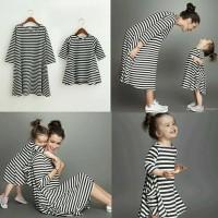 Jual Cp Dress salur mom kid Couple mom kid baju pasangan Murah