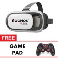 Cognos Virtual Reality Vr Box 3d Glasses - Free Game Pad