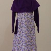 Baju Muslim Anak Perempuan Ungu Size 6