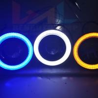 Lampu Led Projector Foglamp Angel Eyes Luxeon 10w 1200lumens 12v Dc