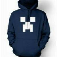 Jual jaket/ sweater/ zipper/ hoodie MineCraft ,navy Murah