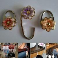 Jual Bag Holder / Gantungan Tas / Pengait Tas ( bunga ) Murah