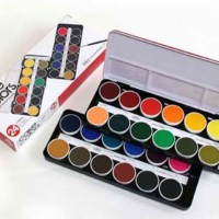 CO12 Holbein Solid Watercolors Transparent Cake Color 24-color Set