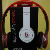 Beats Headphone Monster by Dr Dre Solo HD Headset Merah / Red