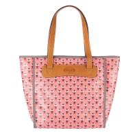 FOSSIL Key-Per Pink Owl Shopper Bag