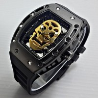 Jam Tangan Richard Mille Skull Gold ( Rolex,Expedition,Casio,Seiko )