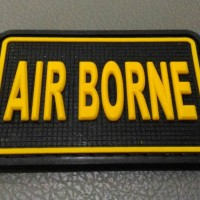 Patch Rubber Airborne, Emblem Tactical, Velcro Airsoft, Tempelan