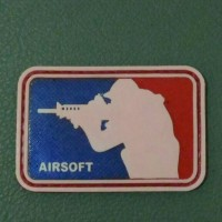 Patc Rubber Airsoft, Emblem Tactical, Velcro, Tempelan Sticker