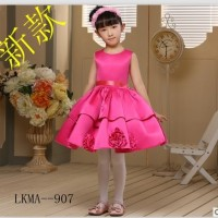 Gaun pesta anak model simple mini dress warna rosy pink /baju princess