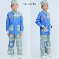 Baju Koko Varel Biru (Size S)