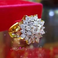 Cincin berlian fashion ring emas kuning kadar 50%