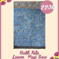 Kain batik cantik - Batik Tulis Lasem Pagi Sore 2 Warna (warna biru)