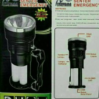 senter lampu emergency + power bank mitsuyama MS 1205