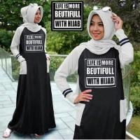 harga Baju Muslim Gamis Hijab Pashmina Murah Promo Lebaran Simple Cantik Tokopedia.com