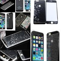 Jual Tempered Glass 3D Prism Front-Back Mirror Set iPhone 5/5S - Black Murah