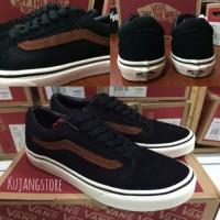 Sepatu vans old skool black brown white original premium quality BNIB