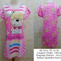 Baju Tidur Daster Bear 288 Pink Fanta