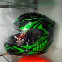 harga Helm Nolan N64 Flazy Metal Black Green ringan cocok kawasaki ninja Tokopedia.com