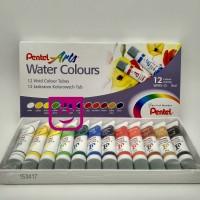 Pentel Water Colour 12 Warna / Cat Air Merk Pentel