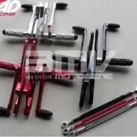 Footstep Depan / Underbone Ninja Rr 150 Full Cnc Impor (Black, Red, Si