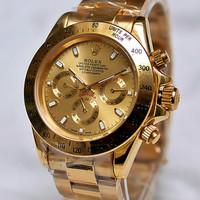 Jam Tangan Pria Rolex Daytona Full Gold Mewah