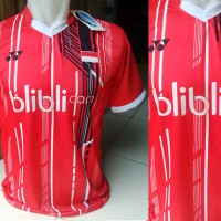 Kaos Blibli com Merah (Kostum,Baju,Volly,Murah,Badminton,GrosirEcer)