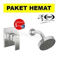 harga Aer Bundling Kran Tanam Panas Dingin Ssv 01+wall Shower Ws-12 Fr Tokopedia.com