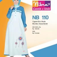 Gamis Nibras Cantik Busana Muslim NB 110 115 1111