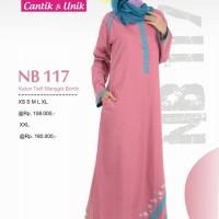 Gamis Muslimah Nibras NB 117 Twill Manggis