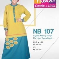 Gamis Nibras NB 105 Cigaret Kuning Kunyit