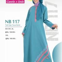 Gamis Muslimah Nibras NB 117 Twill Twill Tosca