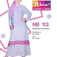 Gamis Nibras Muslimah NB 113 Casia Abu