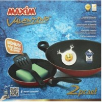 MAXIM VALENTINO 2set Wajan / Penggorengan ( wok 30cm + fry pan 22cm )