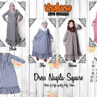 Dress NAQILA Square, Size 10 & 12, Thaluna, Plus Jilbab