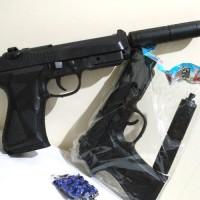 Pistol airsoft Handgun peredam + peluru