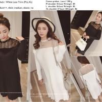 Jual Dress putih, hitam, katun prisket, lace brokat import murah,casual Murah