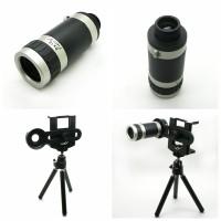 Jual tripod hp handphone mini tripod tele zoom 8x universal lensa Murah