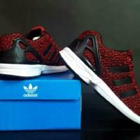 sepatu casual running men adidas zx flux torison red