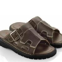 harga sandal casual pria / sendal laki-laki kulit komb bagus awet kuat ef. Tokopedia.com